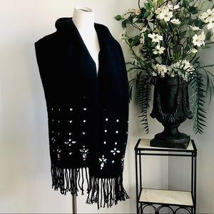 betsey johnson scarf Sequin Rhinestones